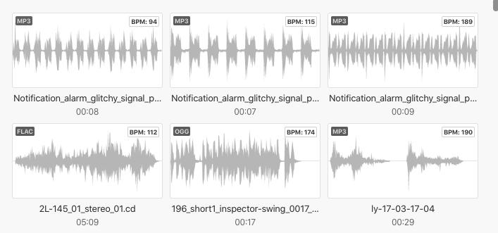 依据 BPM 找到适合节奏的音频文件